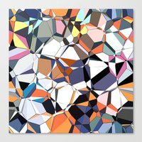 Abstract Geometric Chaos Canvas Print