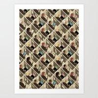 Cubicles Art Print