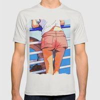 a girl on the boat Mens Fitted Tee Silver SMALL