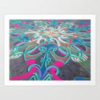 UNION SQ SAND ARTIST Art Print