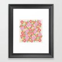 floral party Framed Art Print