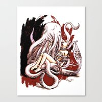 Cuthulhu Love Canvas Print