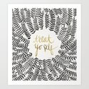 Treat Yo Self – Black & Gold Art Print