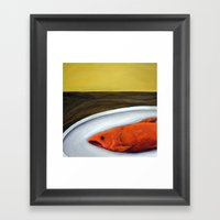 Fish On A Plate Framed Art Print