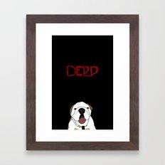 Derp Case Framed Art Print
