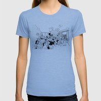The Future Womens Fitted Tee Athletic Blue SMALL