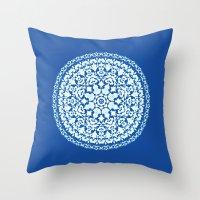 Khatem Rosette 001 | Lapis Throw Pillow