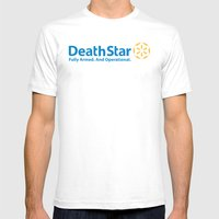 DeathStar Mens Fitted Tee White SMALL