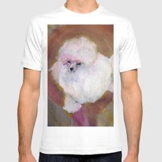 Toy Poodle SMALL White Mens Fitted Tee