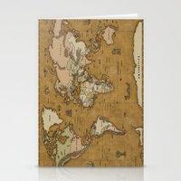 World Treasure Map Stationery Cards