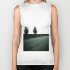 Blurry Trees Biker Tank