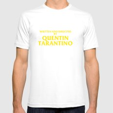 Written And Directed By Quentin Tarantino Mens Fitted Tee White SMALL