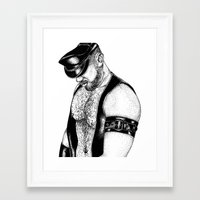 handsome hardcore Framed Art Print
