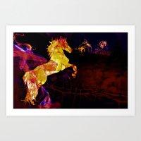 HORSE - War horse Art Print