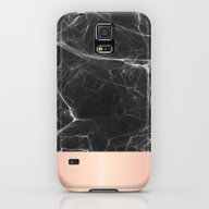Black Marble And Pink  Galaxy S5 Slim Case