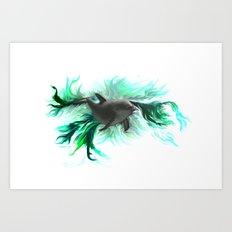 Dolphin Baby Art Print
