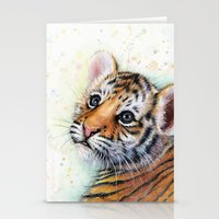 Tiger Cub Watercolor Pai… Stationery Cards