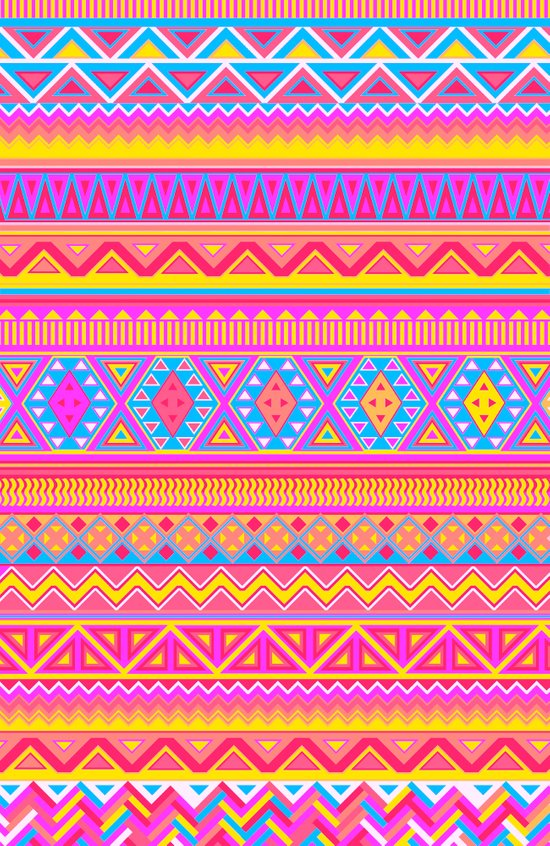 Aztec Pattern Pink 2013 Art Print By Diego Tirigall Society6