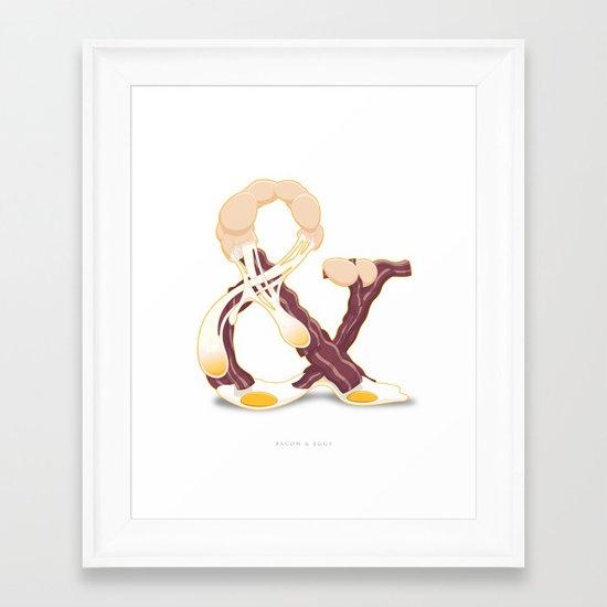 Bacon & Eggs Framed Art Print