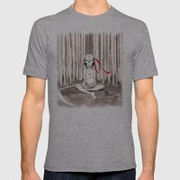 Death Wears a Mask Mens Fitted Tee Athletic Grey SMALL
