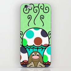 Cute Monster With Cyan And Blue Polkadot Cupcakes iPhone & iPod Skin