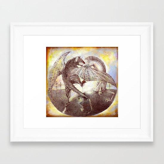 Fight. Framed Art Print