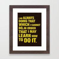 Do it. Framed Art Print