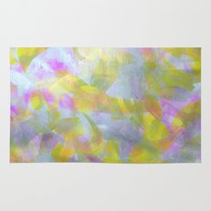 Abstract in Shimmery Pastel Colors Rug