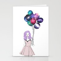 Space balloons Stationery Cards