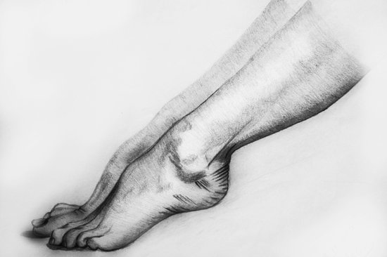 woman legs Art Print