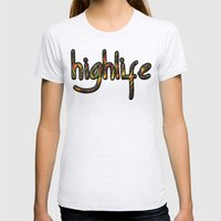Highlife Womens Fitted Tee Ash Grey SMALL