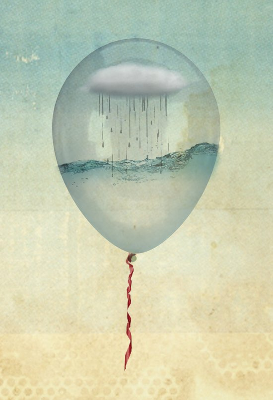the balloon half full Canvas Print