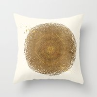 Prairie Mandala Throw Pillow