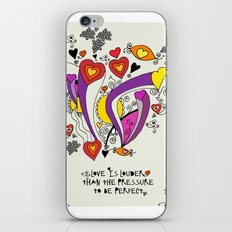 Love is louder iPhone & iPod Skin