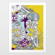 Coral Illustration Art Print