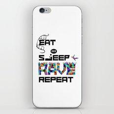 Eat Sleep RAVE Repeat iPhone & iPod Skin