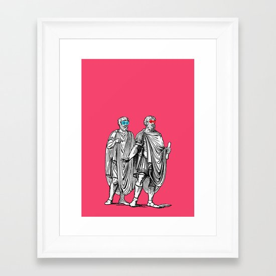 Classic men have a party Framed Art Print