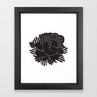 BLACK HANDS Framed Art Print