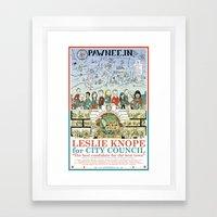 Leslie Knope For City Co… Framed Art Print