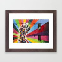 Times Square Kiss in Chelsea Framed Art Print