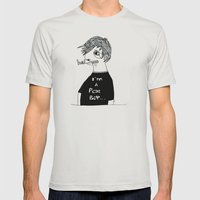 Poor boy Mens Fitted Tee Silver SMALL