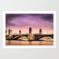 Longfellow Bridge, Bosto… Art Print