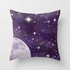 Cosmic Moon  Throw Pillow