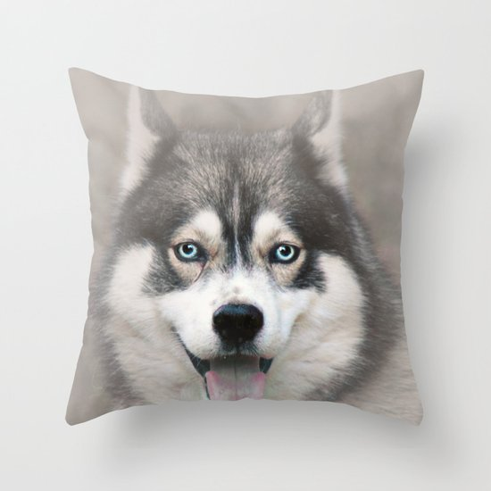 Siberian Husky 2 Throw Pillow
