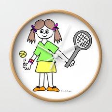 Tennis Girl Wall Clock