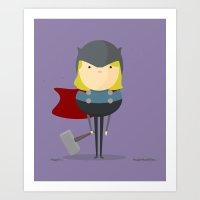 My Handy Hero! Art Print