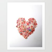 A Heart For Postage Art Print