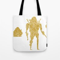 living robotic coral warrior  Tote Bag