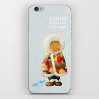 a child being lost in thought iPhone & iPod Skin