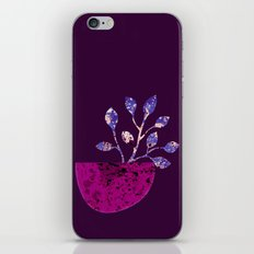 pot and branch on purple iPhone & iPod Skin